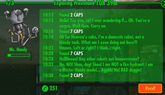 Fallout Shelter Tips And Tricks Mr Handy Hilarious Snarky Wastelands Log What Does He Do How