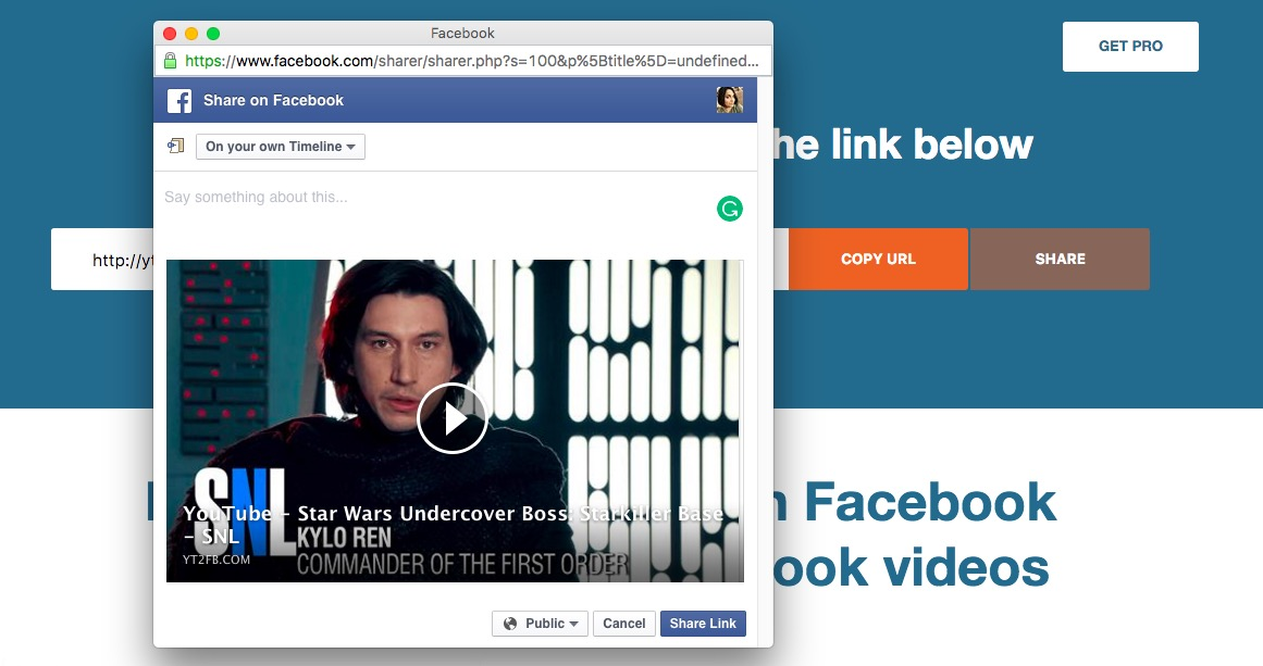 'YT2FB' YouTube To Facebook Video Converter Makes Embeds ...