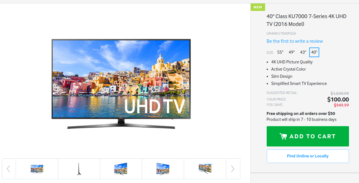 samsung tv 7 series. $100 samsung 4k uhd tv crashes online store: how to order while you still can | player.one tv 7 series