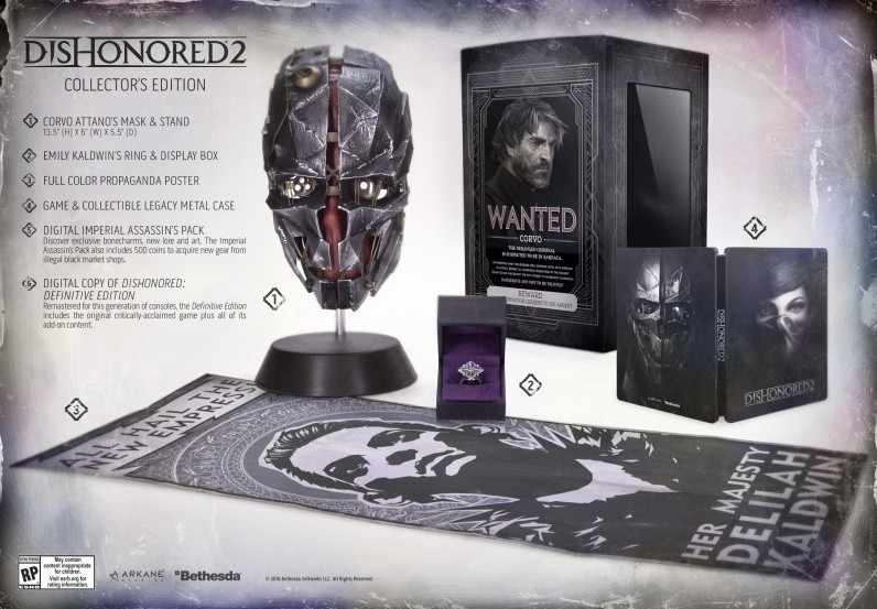 Dishonored 2 Collector S Edition Pre Order Gamestop Doesn T Have Special Edition Here S Where To Buy The Limited Supply Player One