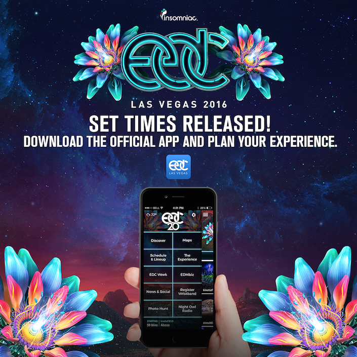 EDC Las Vegas Lineup And Set Times Available On IOS And - Edc las vegas map 2016