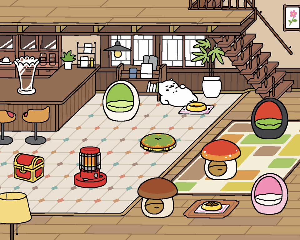 neko atsume update adds new rare cats melange and macchiato cafe style remodel player one. Black Bedroom Furniture Sets. Home Design Ideas