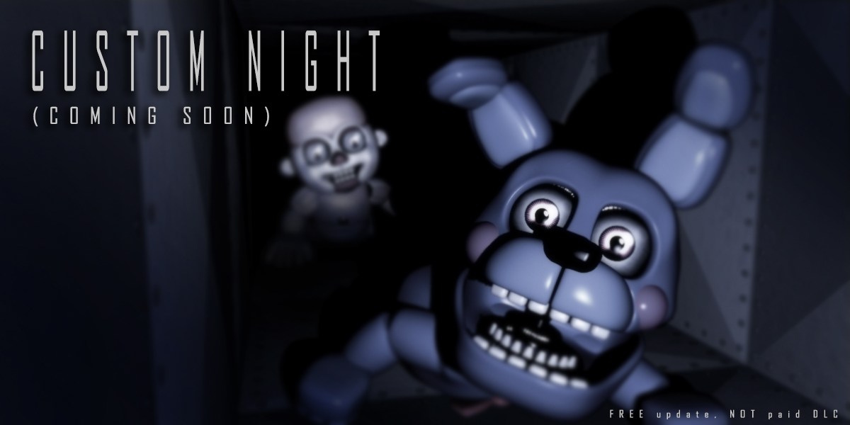 Five Nights At Freddys Sister Location Fee DLC To Add Custom Night Mode Says New Teaser