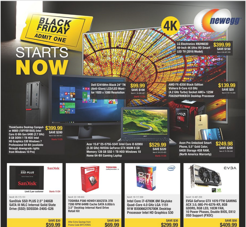black friday 2016 newegg deals 4k tv xbox one bundle pc gaming hardware sales and more. Black Bedroom Furniture Sets. Home Design Ideas