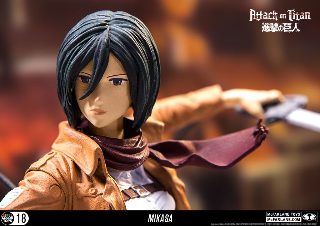 Attack On Titan Mikasa Mcfarlane Figure Review Affordable Option For Careful Collectors Player One