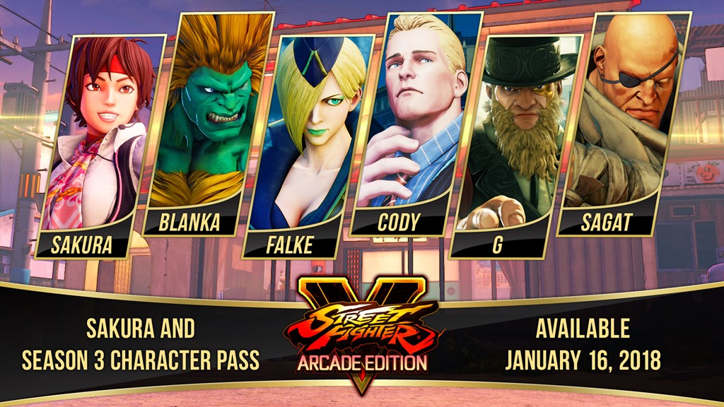 Street Fighter V Season 3 Dlc To Include Sakura Blanka And More Player One
