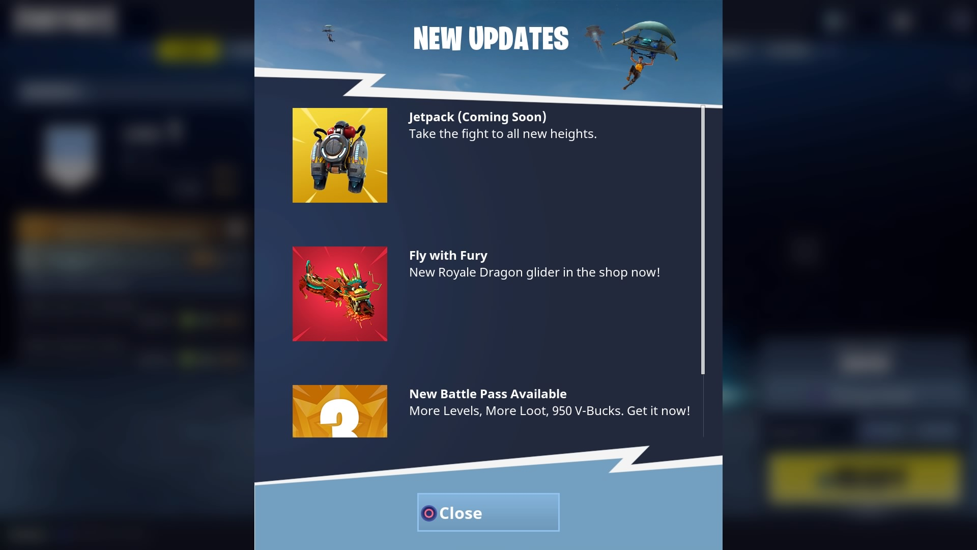 Fortnite Battle Royale Gets Jetpack In Future Update Player One The jetpack is here in fortnite's 4.2 update. fortnite battle royale gets jetpack in
