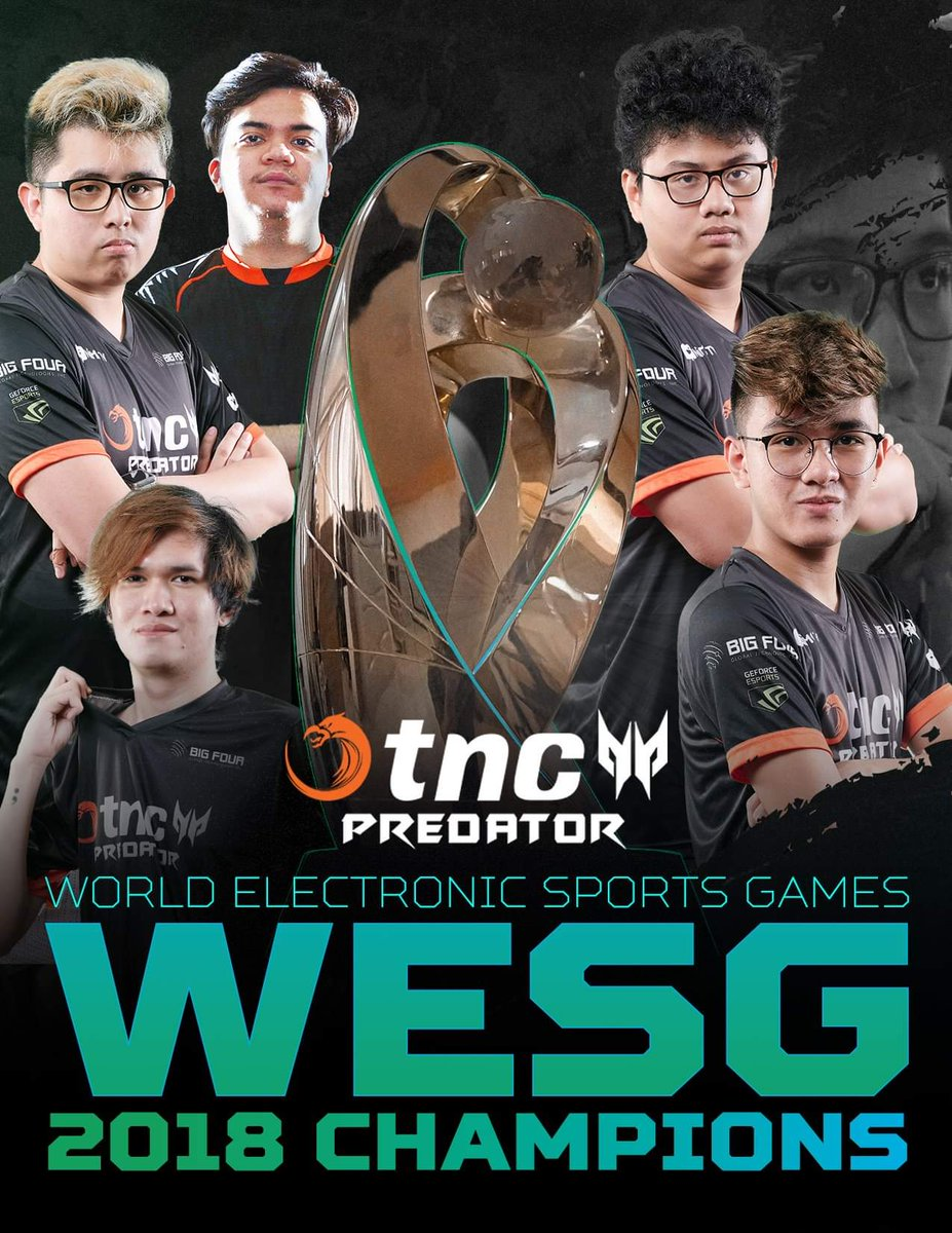 wesg 2018 tnc crowned dota 2 world champion player one. Black Bedroom Furniture Sets. Home Design Ideas