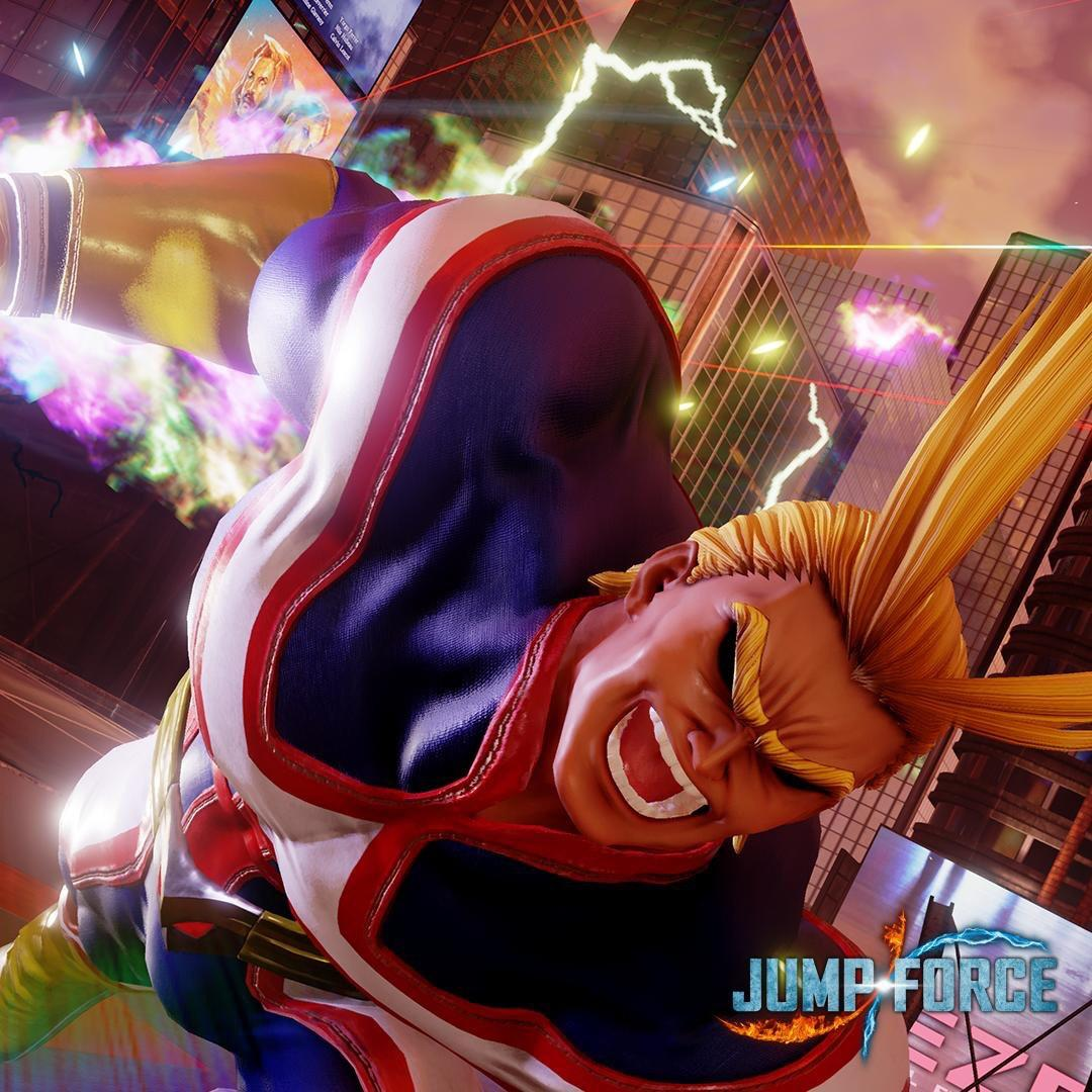 Jump Force Roster  All Might From My Hero Academia Next To