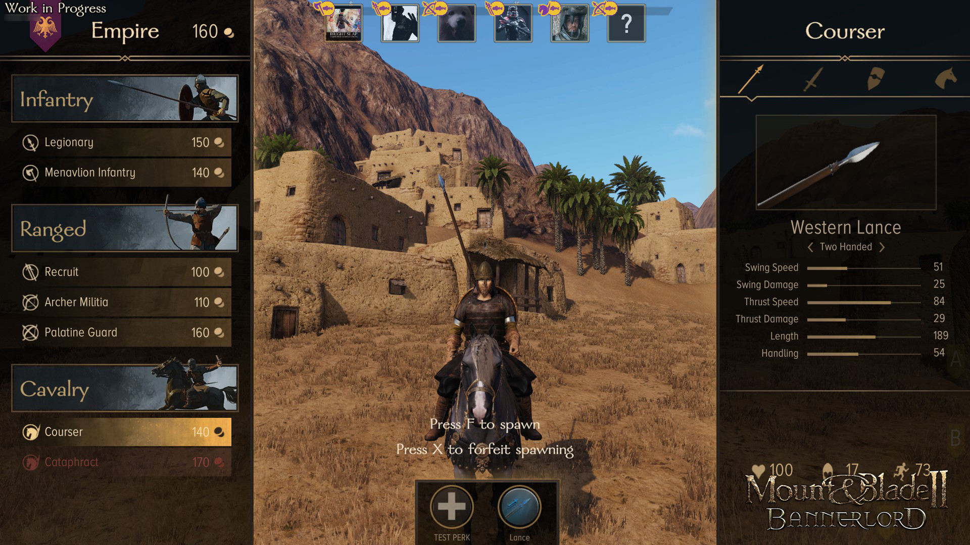 Mount And Blade 2 Bannerlord Developer Diary A Look At The Multiplayer Class System Player One