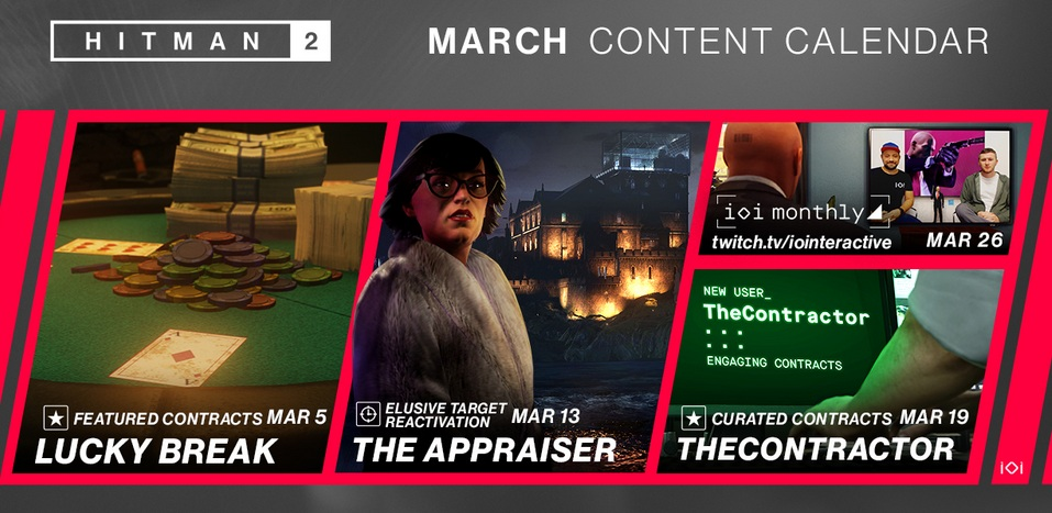 Hitman 2 March 2020 Content Is Here Player One