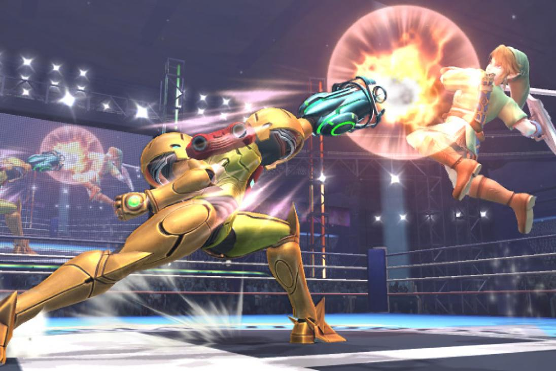 samus vs link super smash bros