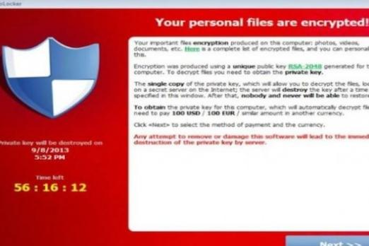 cryptolocker new malware warning virus ransomware removal remove decrypt encrypted restore files free