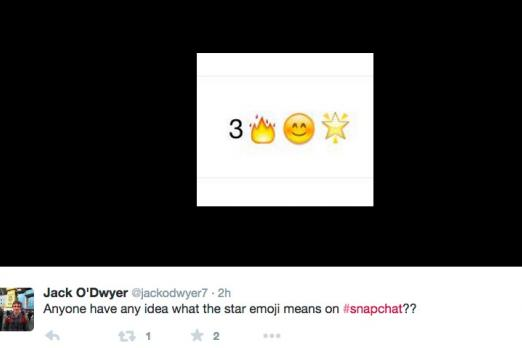 Snapchat Emoji Meanings What Does The Gold Star And Baby Next To