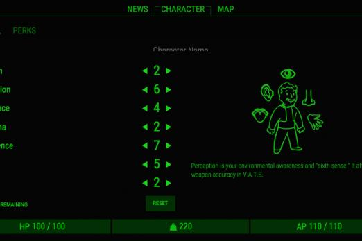 Fallout  Stealth Build Points