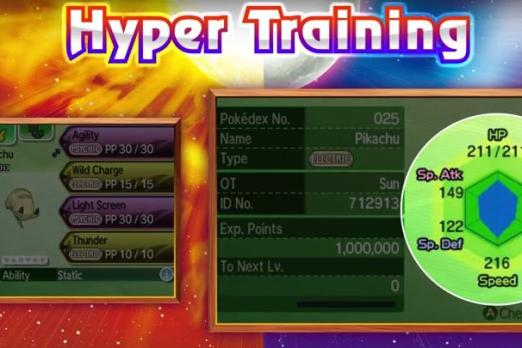 Pokemon Sun Moon Hyper Training 2