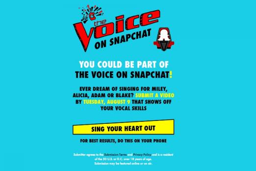 voice snapchat voicesnaps voice snap how to enter online singing competition