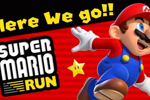 super mario run art launch