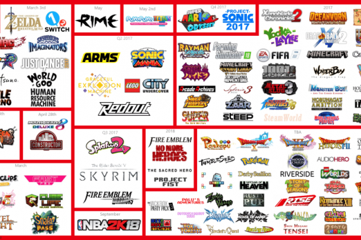 Nintendo Switch Games List Now Over 100 Titles | Player One