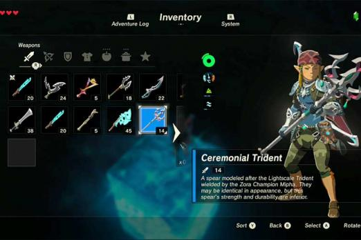 Breath Of The Wild' Ceremonial Trident: How To Complete