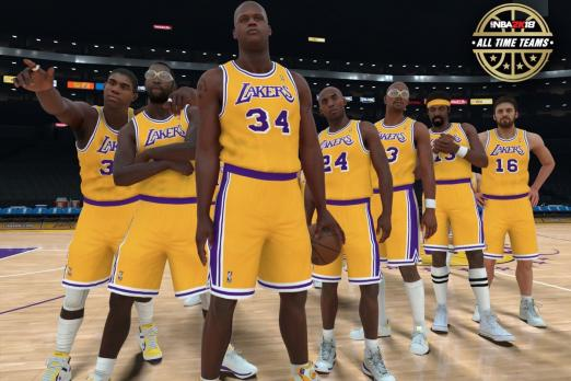 NBA 2K18 Lakers All-Time