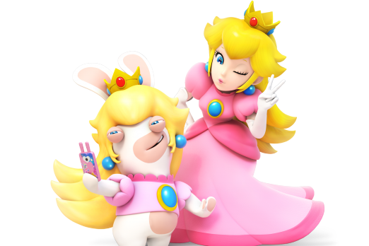 peach and rabbid peach mario rabbids kingdom battle