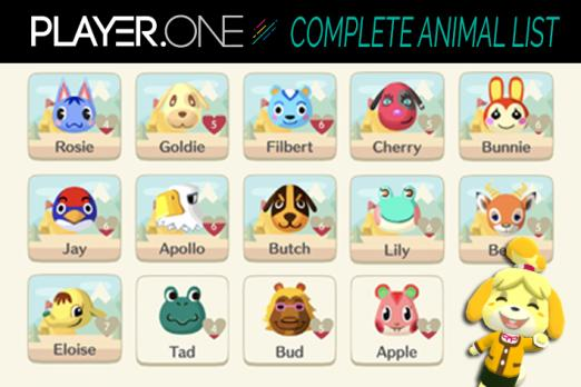 Animal, Crossing, Pocket, Camp, Animal, List, guide, all, animals, how, many, in, game, tips, cheats