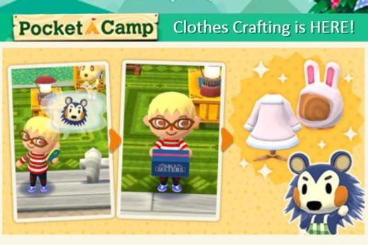 When Can I Craft Clothes Animal Crossing Pocket Camp