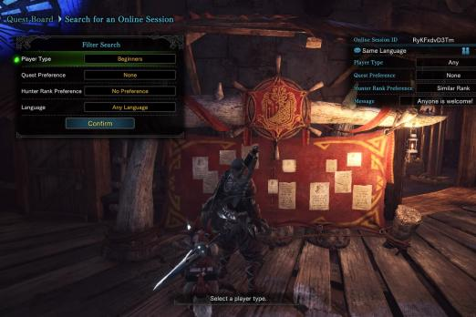 Monster Hunter: World Multiplayer, Sessions And Squads