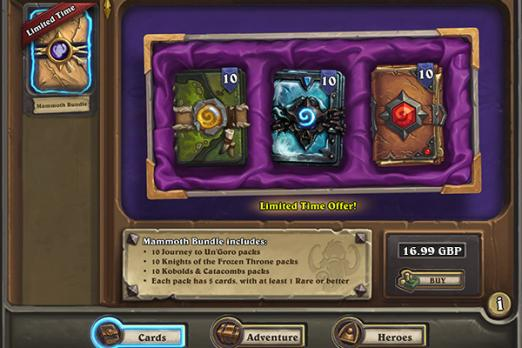 packs hearthstone