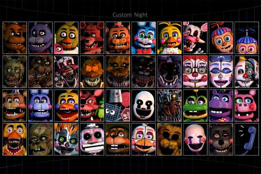 Five Nights At Freddy's 6 Custom Night