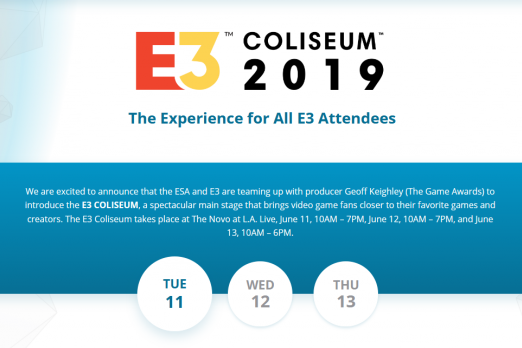 E3 Coliseum 2019 Schedule Announced: All Games Confirmed For
