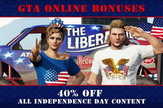 GTA Online Weekly Update: Celebrate The Fourth Of July With