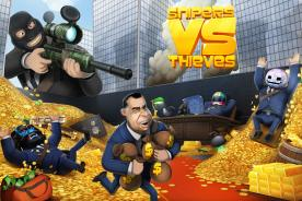 sniper vs thieves review iOS android heist multiplayer game like clash Royale brawl stars