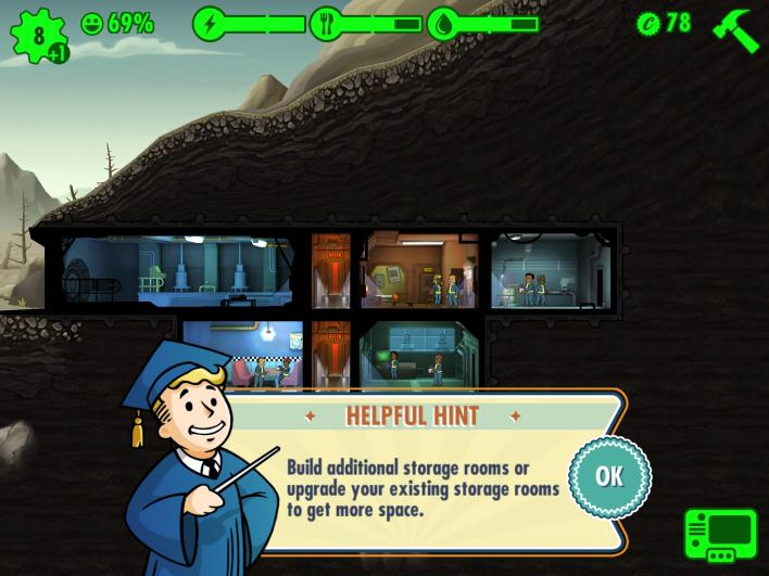 fallout shelter android game tips tricks vault layout dwellers pregnancy wastelands radiation