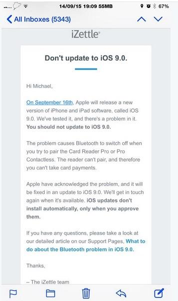 update apple payment