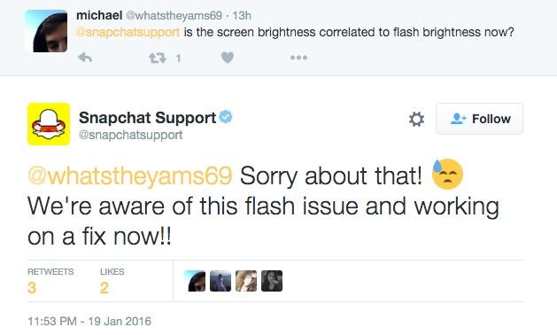 Snapchat Front Facing Camera Flash Not Working After Update: Company Investigating Fix For Dark Flash Problem