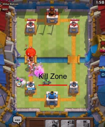 clash royale battle strategy kill zone