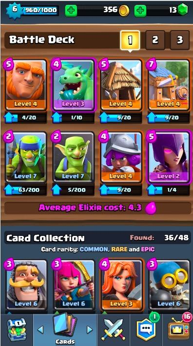 Best clash royale decks and strategies arena 3 6 get for Deck arene 6 miroir