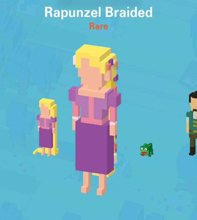 Characters You Can't Buy disney crossy road secret mystery characters unlock where to find tips cheats hack tricks how to game ios android Rapunzel Braided tangled