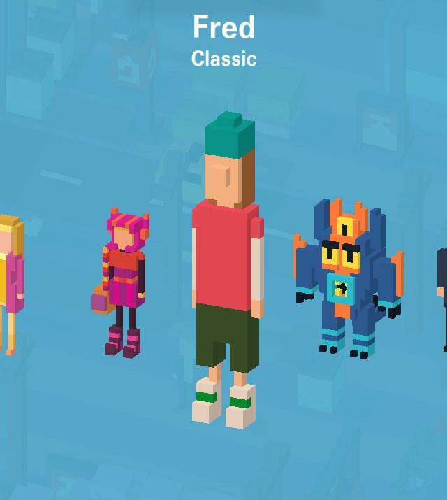 disney crossy road secret mystery characters unlock where to find tips cheats hack tricks how to game ios android Fred