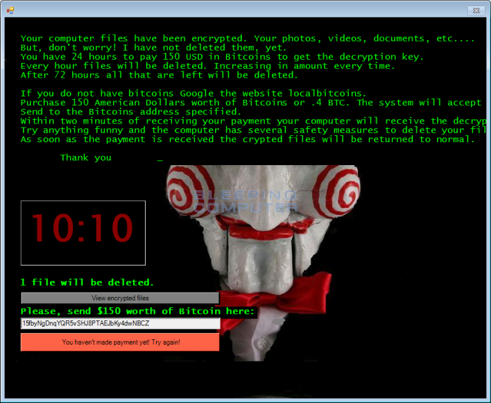Jigsaw Ransomware Deletes Files If Victims Don't Pay Up