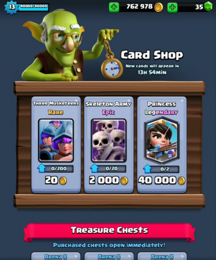 clash royale update leaks new cards sneak peek may 3 legendary balancing changes battle gold store