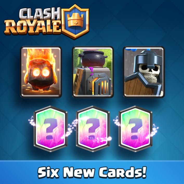 new clash royale cards may update leaks sneak peek lava hound furnace, fire spirits guard