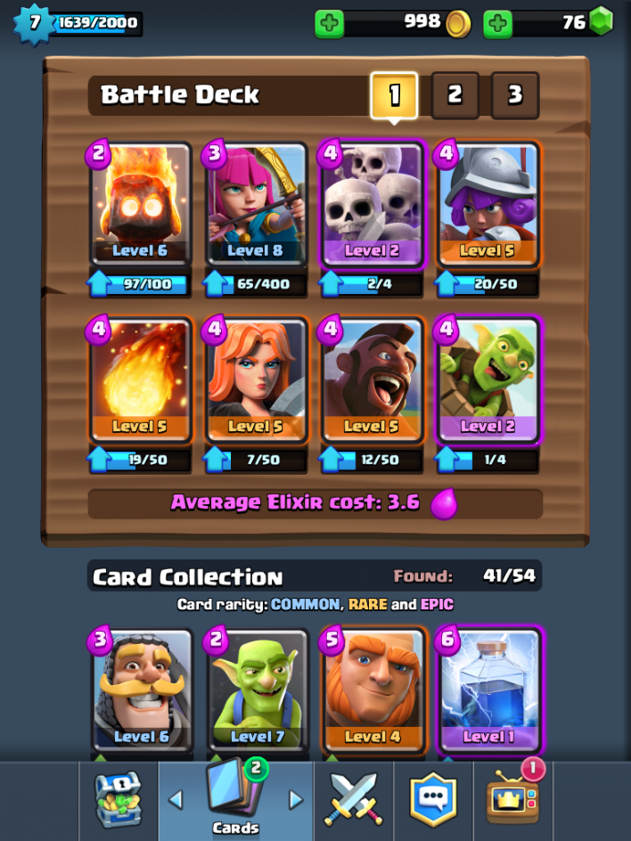 Ith balloon magic archer deck 20 deepthroaters for Clash royale deck arc x