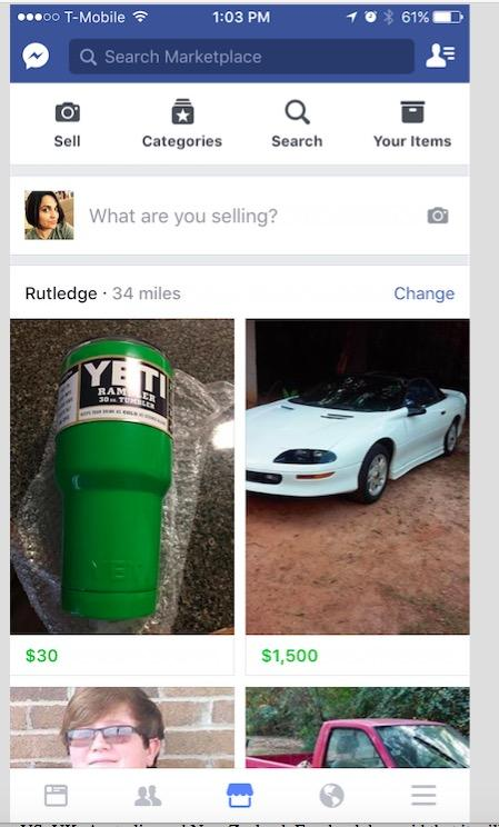 Facebook Marketplace what is it How To sell use Get buy On Facebook New Craigslist app feature iphone android ios