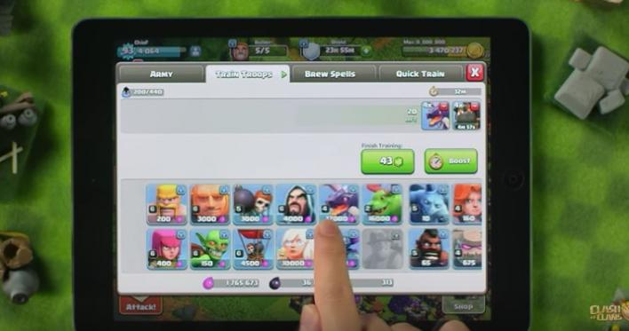 Clash of clans army troops