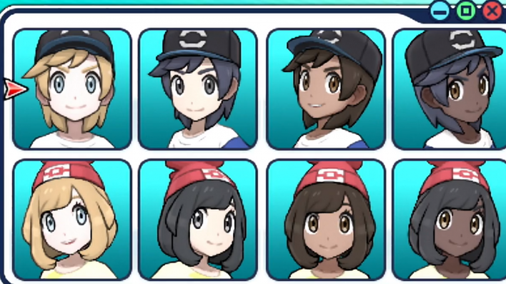 pokemon sun and moon character customization