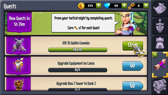 castle creeps td quests how to unlock heroes guide walkthrough upgrade how to 3 star ios android apk cavern clash how to get gems how to get keys