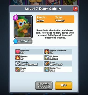 clash royale dart goblin sneak peek how to use decks strategy combos youtube reddit supercell january 2017 update new jungle arena